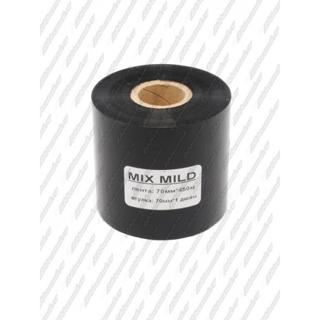"Риббон MIX MILD (wax/resin) 70мм 450м 1"" 70 OUT"