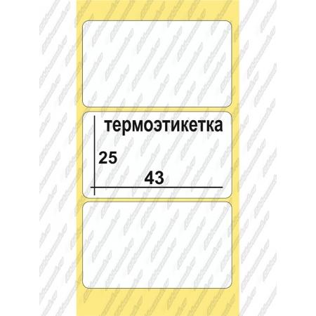 Термоэтикетки Эко 43 x 25, 1000 шт/рул, втулка  40