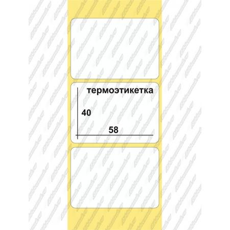Термоэтикетки Эко  58 x 40, 700 шт/рул, втулка  40