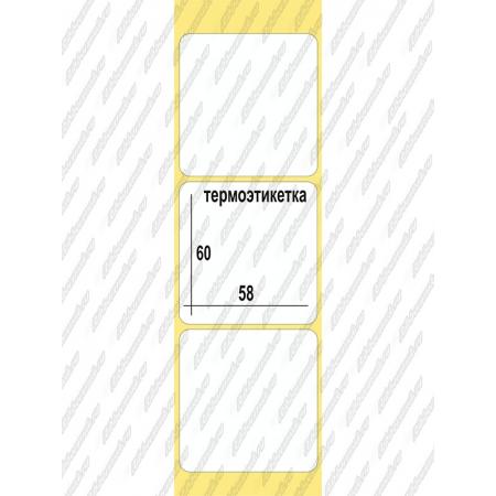 Термоэтикетки Эко  58 x 60, 500 шт/рул, втулка  40