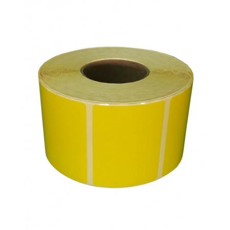 Этикетки полуглянцевые 100х75 мм, 2000 шт/рул, втулка  76 Желтая